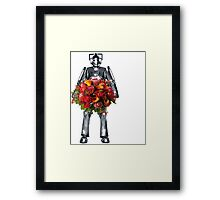 cyberman with flowers  Framed Print