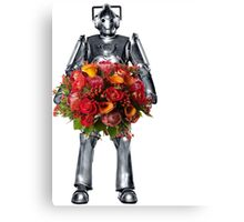 cyberman with flowers  Canvas Print