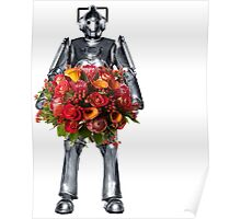 cyberman with flowers  Poster