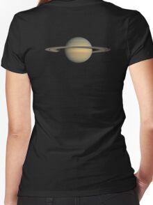 SATURN, NASA, Planet, Ring, Space, Cassini, Equinox Mission, July 2008 Women's Fitted V-Neck T-Shirt