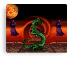 Mortal Kombat Dragon Canvas Print