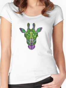 Psychedelic Giraffe Women's Fitted Scoop T-Shirt