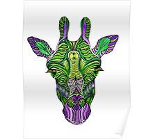 Psychedelic Giraffe Poster