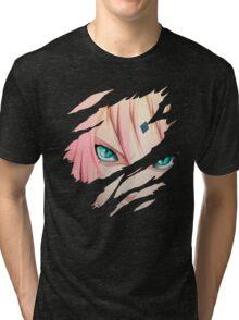 Sakura Anime Manga Shirt Tri-blend T-Shirt