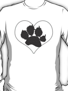 Paw Print In Heart 1 T-Shirt