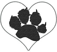 Paw Print In Heart 1 Photographic Print
