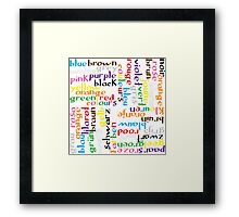 Colour language Framed Print