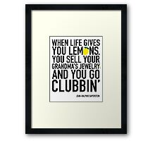 Jean-Ralphio Saperstein Quote (Parks and Rec) Framed Print