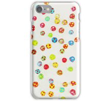 Colorful pattern made of many tiny mushrooms iPhone Case/Skin