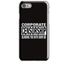 CORPORATE CENSORSHIP - IBORING iPhone Case/Skin