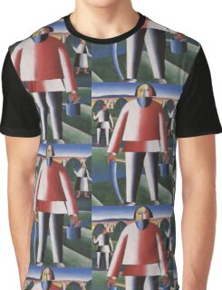 Kazemir Malevich - Haymaking 1929 Graphic T-Shirt