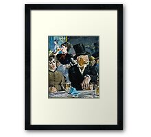 Edouard Manet - At the Cafe ( 1879)  Framed Print