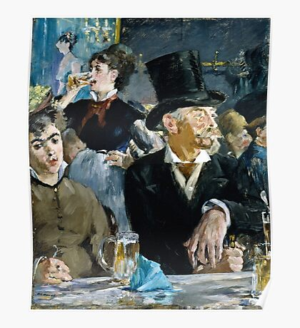 Edouard Manet - At the Cafe ( 1879)  Poster
