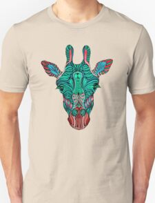 Psychedelic Giraffe - red variant T-Shirt