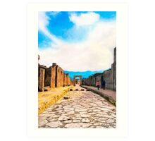 Gateways To The Past - Streets of Pompeii Art Print