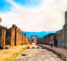 Gateways To The Past - Streets of Pompeii by Mark Tisdale