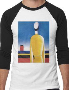Kazemir Malevich - Half-Figure In Yellow Shirt Men's Baseball ¾ T-Shirt