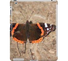 Red admiral on garden path iPad Case/Skin