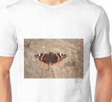 Red admiral on garden path Unisex T-Shirt