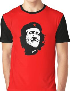 CORBYN, Comrade Corbyn, Leader, Labour Party, Politics, Black on RED Graphic T-Shirt