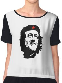 CORBYN, Comrade Corbyn, Leader, Polytics, Labour Party, Black on White Chiffon Top