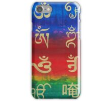Om (Universal sound) in different languages iPhone Case/Skin