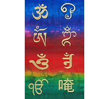 Om (Universal sound) in different languages Photographic Print