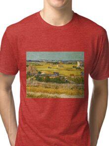 Vincent Van Gogh -  Harvest, June 1888 - 1888  Tri-blend T-Shirt