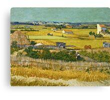 Vincent Van Gogh -  Harvest, June 1888 - 1888  Canvas Print
