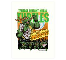 Ninja Turtles Retro First Movie 1990 Mikey Art Print