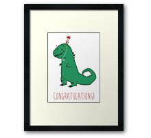 Birthday Dinosaur Framed Print