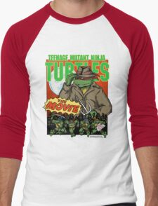 Ninja Turtles Retro First Movie 1990 Raphael Men's Baseball ¾ T-Shirt