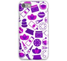 Cosmetic design elements and icons : purple vintage design only in our Designers Shop iPhone Case/Skin