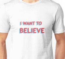 I Want To Believe - XFILES blue/Red Unisex T-Shirt