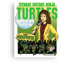 Ninja Turtles Retro First Movie 1990 April O'Neil Canvas Print
