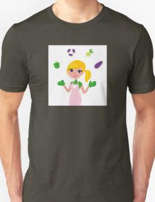 Woman preparing Healthy Food : this Design is original illustration in our Shop Unisex T-Shirt