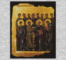 Twelve Disciples, Synaxis, Christianity, Twelve Apostles, Russian, 14th century, Moscow Museum. One Piece - Long Sleeve