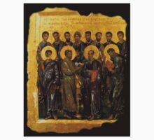 Twelve Disciples, Synaxis, Christianity, Twelve Apostles, Russian, 14th century, Moscow Museum. Kids Tee