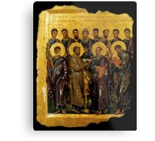 Twelve Disciples, Synaxis, Christianity, Twelve Apostles, Russian, 14th century, Moscow Museum. Metal Print