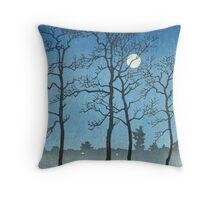Kawase Hasui - Winter Moonlight Throw Pillow