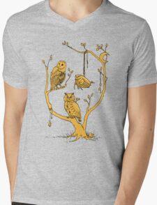 Clockwork Owls Mens V-Neck T-Shirt