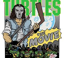 Ninja Turtles Retro First Movie 1990 Casey Jones by Arseniy Dubakov