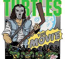 Ninja Turtles Retro First Movie 1990 Casey Jones by Arseniy Dubakov