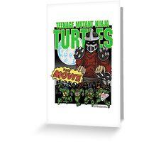 Ninja Turtles Retro First Movie 1990 Shredder Greeting Card