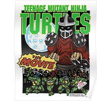 Ninja Turtles Retro First Movie 1990 Shredder Poster