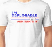 DEPLORABLE DEPLORABLES HILLARY CLINTON DONALD TRUMP TSHIRT T SHIRT DECAL Unisex T-Shirt