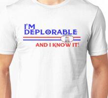 DEPLORABLE DEPLORABLES HILLARY CLINTON DONALD TRUMP TSHIRT T SHIRT DECAL Unisex T-Shirt