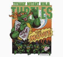 Ninja Turtles Retro First Movie 1990 Mikey Kids Clothes