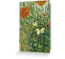 Vincent Van Gogh - Butterflies And Poppies, April 1890 - May 1890  Greeting Card