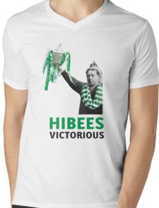 Hibs Scottish Cup Mens V-Neck T-Shirt